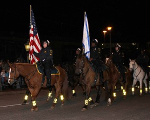 Mounted policemen in parade