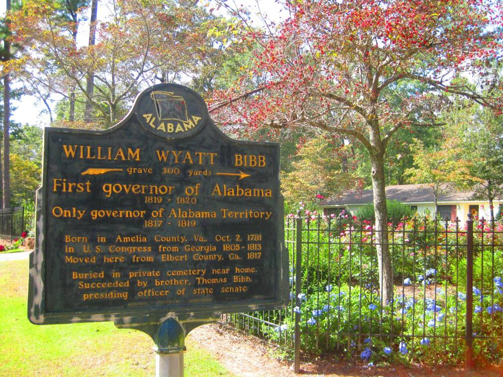 Coosada historic marker Alabama