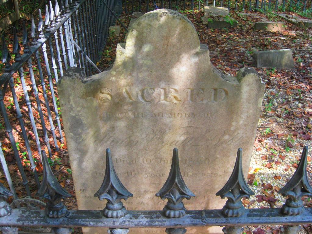 William Wyatt Bibb gravestone Alabama