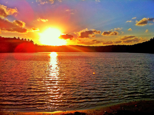 Walden Pond at Sunset